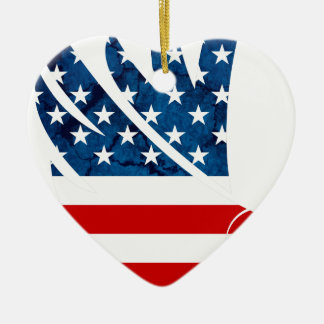 Freedom Eagle USA Ceramic Heart Decoration