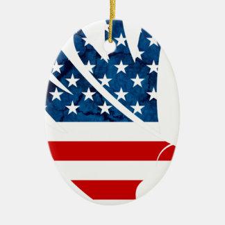 Freedom Eagle USA Ceramic Oval Decoration
