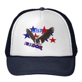 Freedom Eagle USA Patriotic Trucker Hat