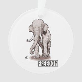 """Freedom"" Elephant Christmas Ornament"