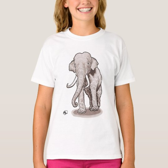 """Freedom"" Elephant Girl's T-shirt"