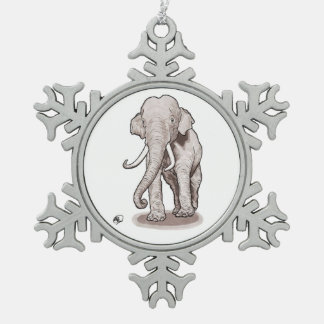 """Freedom"" Elephant Snowflake Ornament"