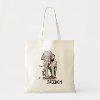 """Freedom"" Elephant Tote Bag"