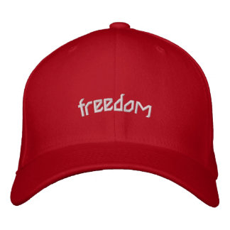 freedom embroidered cap