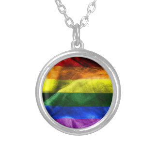 Freedom Flag Silver Plated Necklace