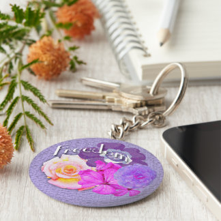 Freedom flowers key ring