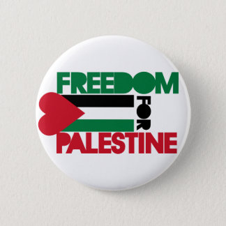 Freedom for Palestine 6 Cm Round Badge