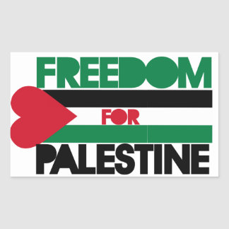 Freedom for Palestine Rectangular Sticker