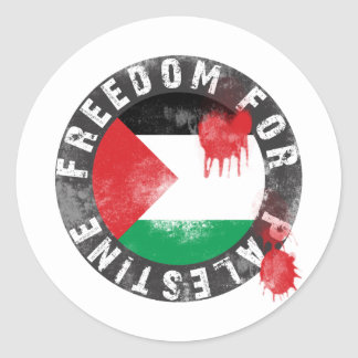 Freedom for Palestine Round Sticker