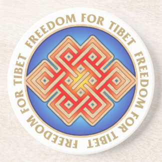 Freedom for Tibet Endless Knot Pattern Coaster