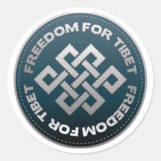 Freedom For Tibet Stitch Classic Round Sticker