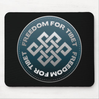 Freedom For Tibet Stitch Mouse Pad