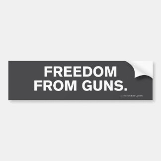 """Freedom From Guns"" Bumper Sticker"