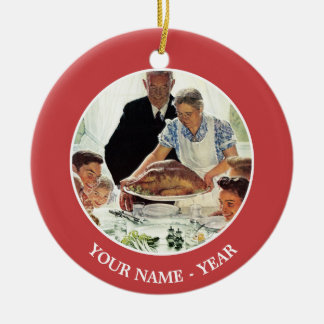 Freedom From Want Christmas Ornament