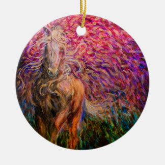 Freedom Horse Pink Pendant Christmas Ornament
