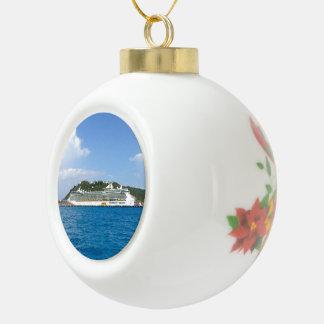 Freedom in St. Maarten Ceramic Ball Christmas Ornament