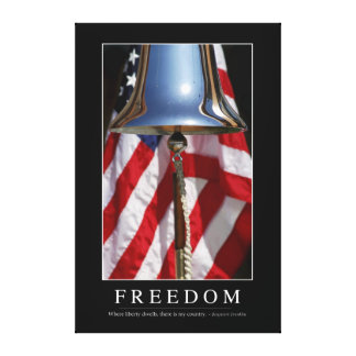 Freedom: Inspirational Quote 1 Canvas Print