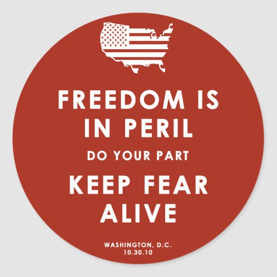 Freedom Is In Peril! Sticker