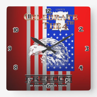 Freedom Is More Than A Word Liberty Wall Clock