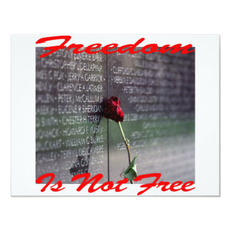 Freedom Is Not Free #004 11 Cm X 14 Cm Invitation Card