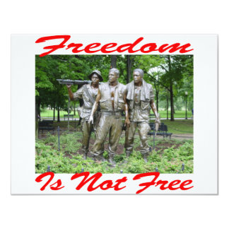 Freedom Is Not Free #005 11 Cm X 14 Cm Invitation Card