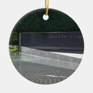 Freedom is Not Free - Korean War Memorial.JPG Christmas Ornament