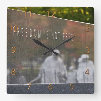 Freedom Is Not Free, Korean War Memorial Square Wall Clock