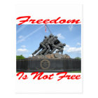 Freedom Is Not Free Postcard