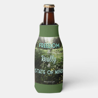 freedom is really a state of mind bottle cooler