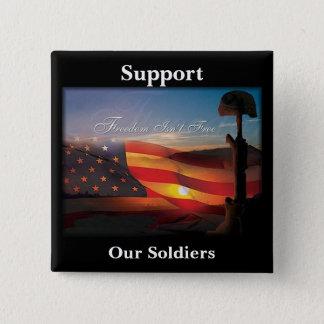 """Freedom Isn't Free"" 15 Cm Square Badge"