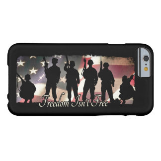 Freedom Isnt Free Military Army Soldier Silhouette Barely There iPhone 6 Case