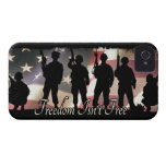 Freedom Isnt Free Military Soldier Silhouette iPhone 4 Case-Mate Cases