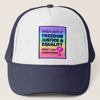 Freedom Justice Equality hat