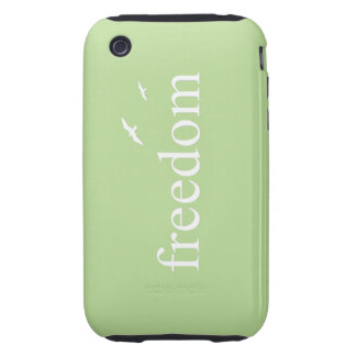 Freedom Motivational Quote Tough iPhone 3 Cases