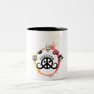 Freedom mug (2-color; origin/splash)