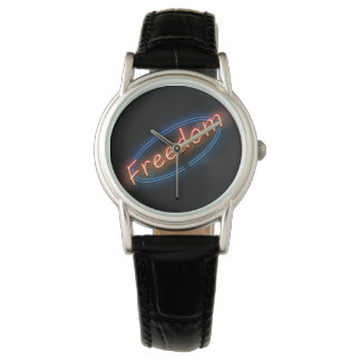 Freedom neon sign. watch