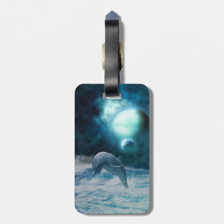 Freedom Of Dolphins Luggage Tag