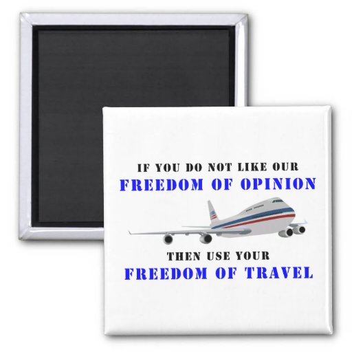 Freedom OF opinion and democracy Fridge Magnets