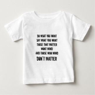 Freedom of speech baby T-Shirt