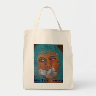 freedom of speech canvas bags