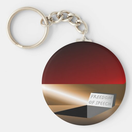 Freedom of Speech Key Chains