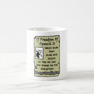 Freedom Of Speech Coffee Mugs