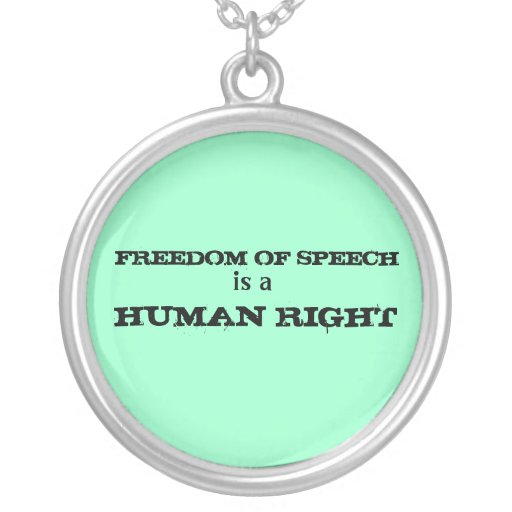 Freedom of Speech Necklace