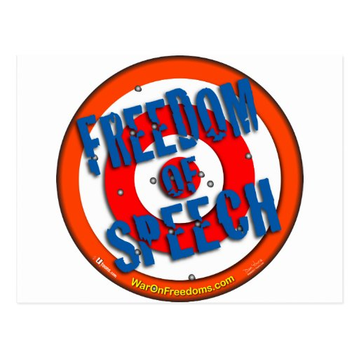 Freedom of Speech Post Card
