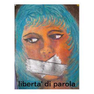 freedom of speech post card