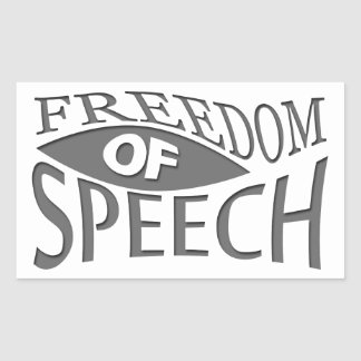 Freedom Of Speech Rectangular Sticker