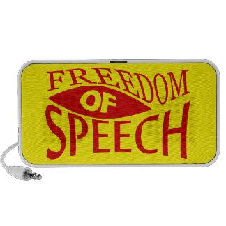 Freedom Of Speech - red 2 Laptop Speaker