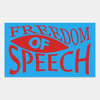 Freedom Of Speech - red 2 Rectangular Sticker