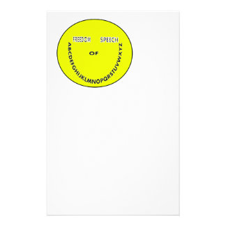 Freedom of speech smiley face customized stationery