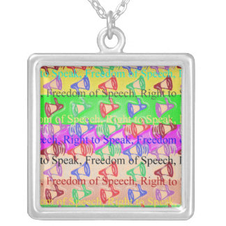 FREEDOM of Speech - Social Political Democratic Personalized Necklace